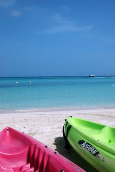 Seven Mile Beach Kayaks ~ Negril, Jamaica Plan your #WinterEscape in #Bluefields #Jamaica at www.lunaseainn.com