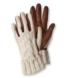Cashmere Cable Driving Gloves by LL Bean