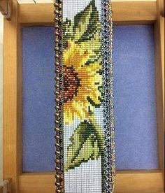 Sunny Flower Bead Loom Cuff Pattern