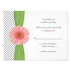 ReviewCoral Gerber Daisy Polka Dot Reply Card Personalized Invitesin each seller & make purchase online for cheap. Choose the best price and best promotion as you thing Secure Checkout you can trust Buy best