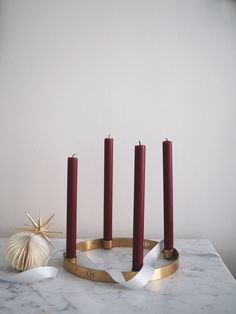 Adventsstake Candle Holder Circle liten.