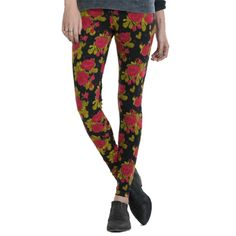 Obey Midnight Special Legging in red floral