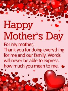 68 best mothers day cards images on pinterest happy mothers day happy mothers day card to loved ones on birthday greeting cards by davia its free and you also can use your own customized m4hsunfo