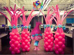 Trolls Birthday Party, Troll Party, Baby 1st Birthday, 6th Birthday Parties, Birthday Ideas, Kids Party Themes, Birthday Party Decorations, Party Ideas, Alice