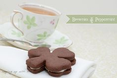 Brownies and peppermint-from  keepingupwiththetimes.blogspot  sounds YUMMY