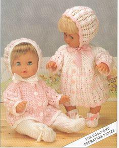 Dolls Clothes Coat,Jacket Leggings Bonnet 12,16,20 | Craftsy