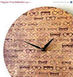 glasses clock