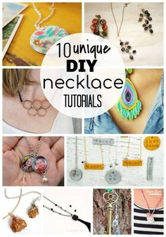 Jewelry Making - 10 DIY Necklace Tutorials For Teenagers: This roundup of necklaces tutorials is perfect for teenagers wanting… - View Old Jewelry, Simple Jewelry, Jewelry Crafts, Jewlery, Diy Jewellery, Jewelry Ideas, Handmade Jewelry, Diy Copper Ring, Diy Earrings Tutorial