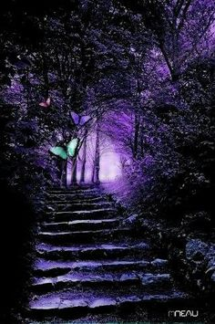 Ideas for fantasy landscape forests magic paths Purple Love, All Things Purple, Shades Of Purple, Deep Purple, Purple Stuff, Beautiful Places, Beautiful Pictures, Purple Reign, Purple Aesthetic