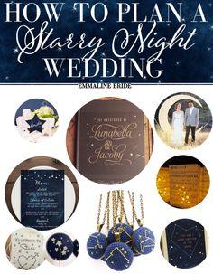 Starry Night Wedding Ideas | http://emmalinebride.com/vintage/starry-night-weddings-ideas/
