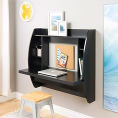 Prepac - Black Floating Desk with Storage - BEHW-0200-1 - Home Depot Canada