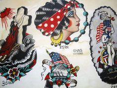 Vintage Tattoo Flash Art 44 | Flickr - Photo Sharing!