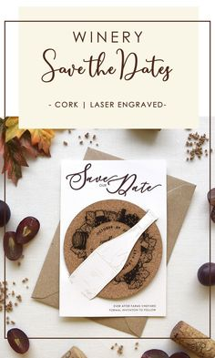 Build the anticipation of your wedding day with your Coaster Save the Dates. The excitement starts as soon as they receive your Save the Date in the mail..Your Save the Date will give a sneak peek of your winery wedding theme. It will also invite your guests to use the coaster and they will remember your wedding date every time they drink a glass of wine. The bottle design is also laser-engraved on the card and cut to hold the coaster. #winerysavethedates #coaster #rusticweddingsavethedates Rustic Wedding Stationery, Laser Cut Wedding Invitations, Destination Wedding Invitations, Cream Wedding, Farm Wedding, Laser Cut Save The Dates, Rustic Wedding Save The Dates, Wedding Coasters, Bottle Design