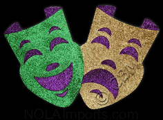 mardi gras masks, make out of foam board & paint for large backdrop