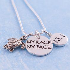 Half marathon necklace. My race my pace.