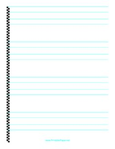 This printable calligraphy paper has fine lines for practicing hand lettering. It is intended for a pen with a nib width of .10 (medium). Free to download and print