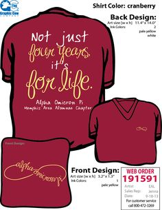 AOII Memphis Area Alumnae Chapter shirts!