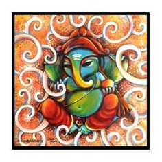The Elephant Duo Poster by Sonali Mohanty. All posters are professionally printed, packaged, and shipped within 3 - 4 business days. Choose from multiple sizes and hundreds of frame and mat options. Ganesha Painting, Thing 1, Indian Gods, All Poster, Painted Doors, Watercolor Techniques, Plates On Wall, Swirls, Cosmic