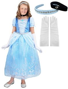 Little Pretends Deluxe Cinderella Princess Costume Set (Large (7-8 yrs)) -- Click on the image for additional details.