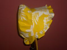 Sunbonnet Yellow and White Hibiscus Cutouts Girls 6 to 10 years LIMITED - pinned by pin4etsy.com