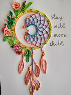 Artbeat Moments: Dream Catcher Part 2 Paper Quilling Earrings, Paper Quilling Cards, Paper Quilling Patterns, Origami And Quilling, Quilled Paper Art, Diy Quilling Crafts, Arte Quilling, Quilling Work, Paper Quilling For Beginners