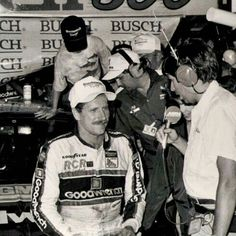 Dale Earnhardt being interviewed at Bristol Motor Speedway after his 7th of 9 wins there.