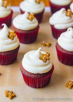 Gingerbread Cupcakes with Cream Cheese Frosting | Bake with Christina