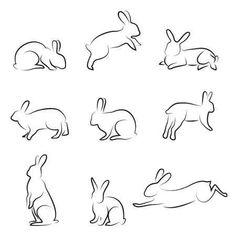 Stock vector of Rabbit Drawing Set. Vector Art by Sabri deniz Kizil from the collection Hemera. Get affordable Vector Art at Thinkstock. Bunny Tattoos, Rabbit Tattoos, White Rabbit Tattoo, Rabbit Drawing, Rabbit Art, Bunny Rabbit, Small Rabbit, Hase Tattoos, Animal Drawings