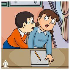 Doraemon Cartoon, Cartoon Art, Doraemon Wallpapers, Sexy Love Quotes, Cute Cartoon Pictures, Sexy Drawings, Bioshock, Love Wallpaper, Love Memes