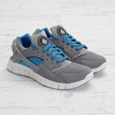 uk availability e4e8b a5964 Nike Huarache Grey Huaraches, Blue Nike, Nike Huarache, Fashion 101,  Runners,