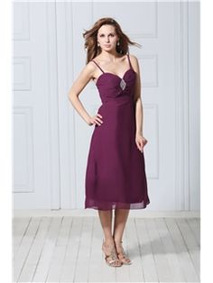 A-Line Spaghetti Straps Tea-Length Veronika's Mother of the Bride Dress