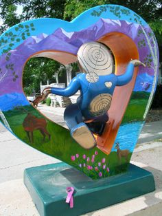 Loveland is known as the city of Love and one of the ways it shows this is by the Heart Sculptures throughout the city.