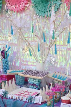 Love the rock candy icicle tree