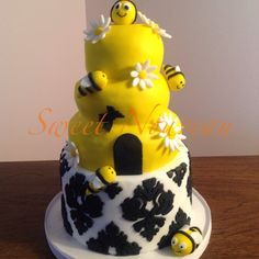 Bumble Bee Theme Baby Shower Mini Cake