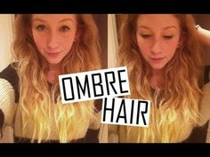How To • DIY Ombre Hair. I did this and then i added purple to where the light blonde is ... perfect!