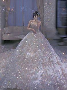 Ballroom Wedding Dresses, Dream Wedding Dresses, Wedding Gowns, Pretty Quinceanera Dresses, Pretty Dresses, Beautiful Dresses, Sparkly Gown, Princess Ball Gowns, Fairytale Dress