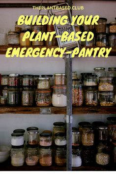 """Easy tips to avoid another """"there's nothing to eat"""" situation! Meal Prep For The Week, Pantry, Plant Based, Eat, How To Plan, Tips, Pantry Room, Butler Pantry, Larder Storage"""