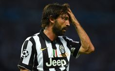 Andrea Pirlo of Juventus reacts during the UEFA Champions League Final between Juventus and FC Barcelona at Olympiastadion on June 6, 2015 in Berlin, Germany.