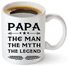 MuggiesTM Papa Mug - Gift For Dad And Grandpa! Unique Gifts For Men & Husband! Christmas, Birthday, Father's Day - Papa The Man The Myth The Legend! + Woodworking Ebook By Muggies(Best Gifts For Mother In Law) Unique Gifts For Dad, Best Dad Gifts, Grandpa Gifts, Fathers Day Gifts, Trending Christmas Gifts, Unique Christmas Gifts, Christmas Gifts For Women, Christmas Presents, Christmas Ideas