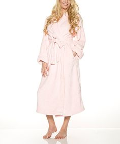 Look at this Rhonda Shear Pink Belted Robe - Plus Too on #zulily today!