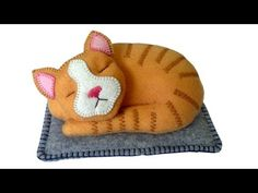 DIY felt cat tutorial - Free pattern with Lisa Pay - YouTube