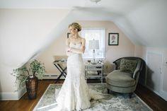 Bride getting ready at Barn on bridge Wedding, Collegeville pa
