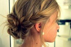 Bridesmaids hair, up-do bun with braids