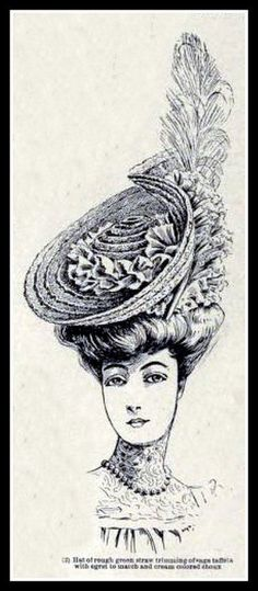 1905 Edwardian Fashion: Hat - 3 | Flickr - Photo Sharing!