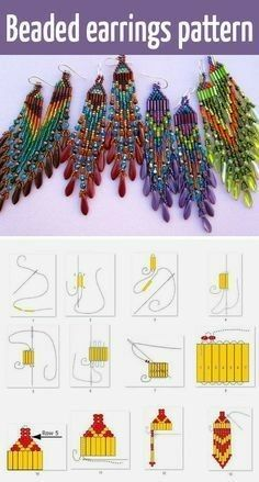 Seed bead jewelry Beaded beads tutorials and patterns, beaded jewelry patterns, wzory bizuterii koralikowej, bizuteria z koralikow – wzory i tutoriale Discovred by : Linda Linebaugh Beste Seed Bead Schmuck 2017 Perlen Ohrringe Tutorial und Muster Seed B Beaded Earrings Patterns, Seed Bead Patterns, Beading Patterns, Bracelet Patterns, Embroidery Patterns, Beaded Earrings Native, Crochet Patterns, Beaded Necklace, Beaded Bracelets