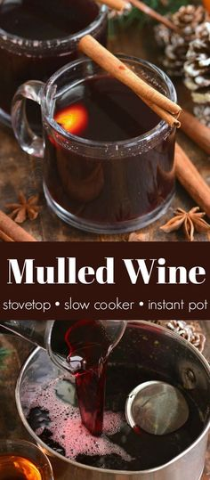 Rich Mulled Wine combines mulling spices aromatic red wine orange peel and juice honey orange liqueur and brandy. It's easy and only takes about 20 minutes. Mulled White Wine, Spiced Wine, Red Wine, Food Network Tv Shows, Food Network Recipes, Top Recipes, Wine Recipes, Amazing Recipes