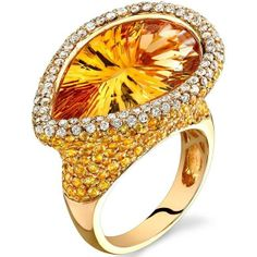 """Before I met you, """"Pear shaped Citrine and Diamond ring from Natalie K."""" I never knew what it was like to be able to look at someone & Smile for No Reason   Capri Jewelers Arizona ~ www.caprijewelersaz.com"""