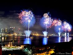 Macy's 4th of July fireworks on the Hudson River NYC. These were louder than you could possibly believe!