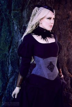Celtic Knot Underbust Corset & Accessories (Corset, Collar, Cuffs & Facinator) by Forge Fashion Model Lady Dread Photography Trinitynavar Victorian Steampunk, Gothic, Punk Fashion, Fashion Models, Underbust Corset, Celtic Designs, Celtic Knot, Alternative Fashion, Corsets