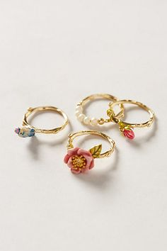 Birdsong Ring Set - anthropologie.com